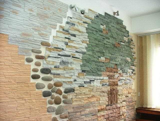 Внутренняя отделка декоративным камнем своими руками